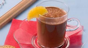 Шоколадный коктейль с манго