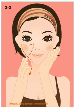 2-2. Упражнение на подъем нижней части лица и щек.