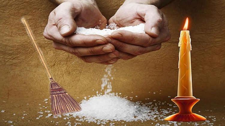 как почистить дом солью