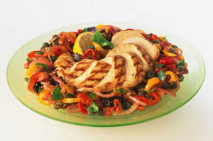 Куриная грудка и овощи