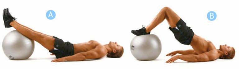 Упражнения для мужчин на фитболе