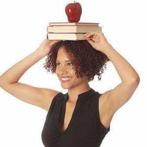 Книги на голове