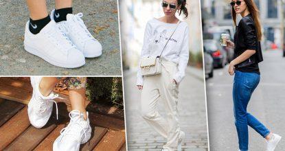 Как и с чем носить белые кроссовки и кеды— создаем свой образ
