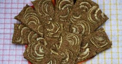 Хлебцы из семечек с луком