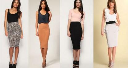Как и с чем носить юбку карандаш— тенденции моды 2016