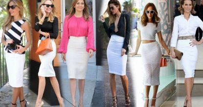 Как и с чем носить юбку карандаш— тенденции моды