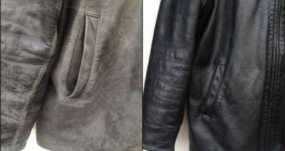 Окраска кожаной куртки в домашних условиях