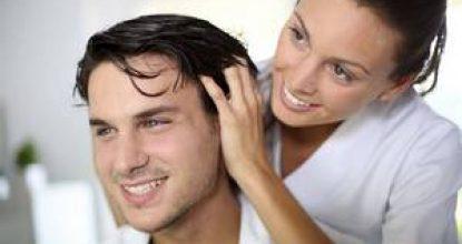 Массаж волосистой части головы для роста волос и снятия усталости
