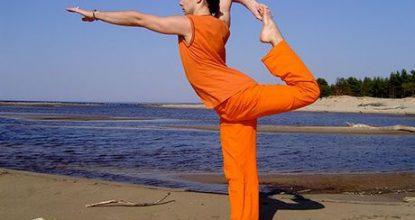 Упражнение Золотой петух стоит на одной ноге для долголетия