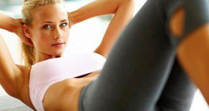 Классические упражнения на пресс в живых картинках