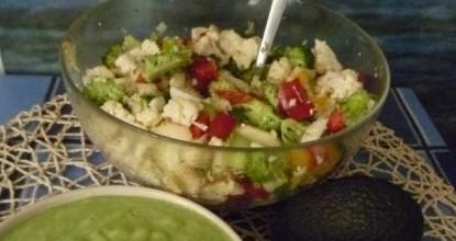 Рецепт салата из цветной капусты и брокколи от сыроедов