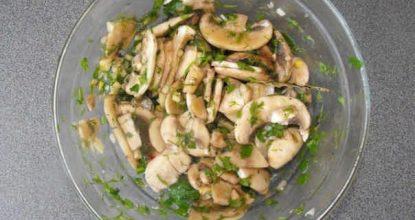 Рецепт приготовления живых маринованных шампиньонов