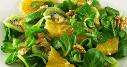 Салат из киви с апельсином