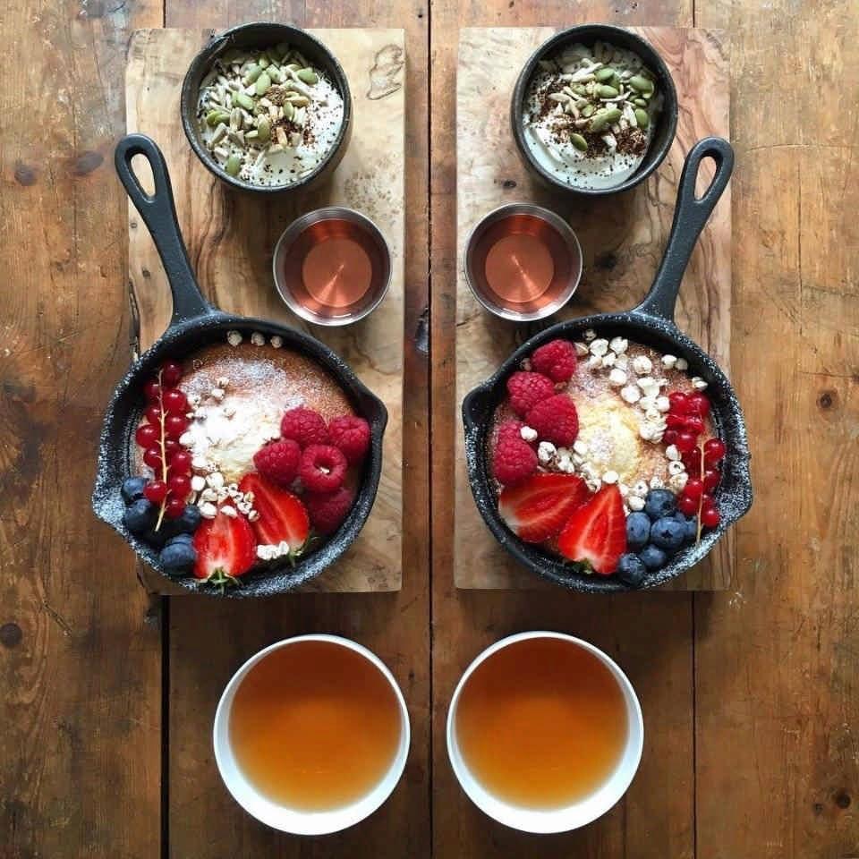 Завтрак на двоих: симметричный завтрак для себя и друга