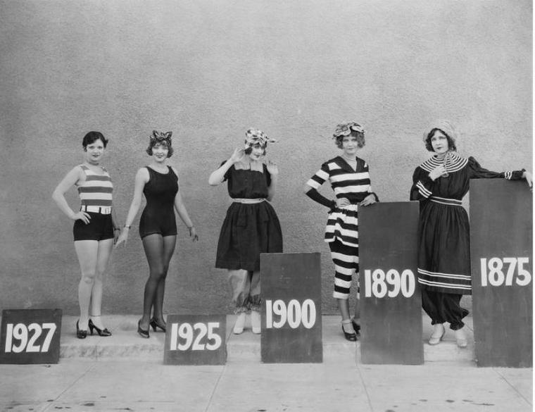 История женского купального костюма