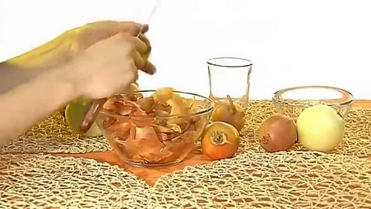 Лечение луковой шелухой
