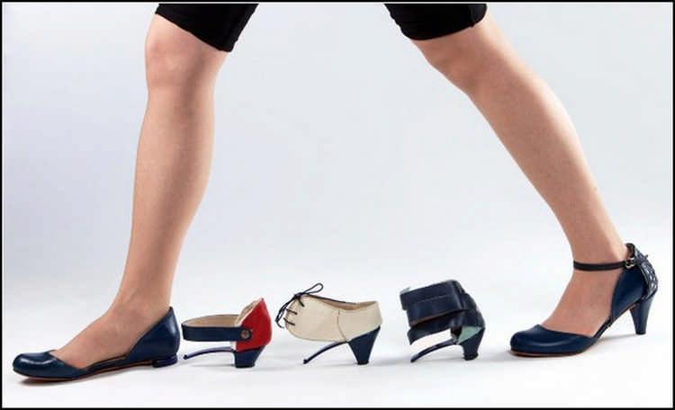 Туфли со сменными каблуками