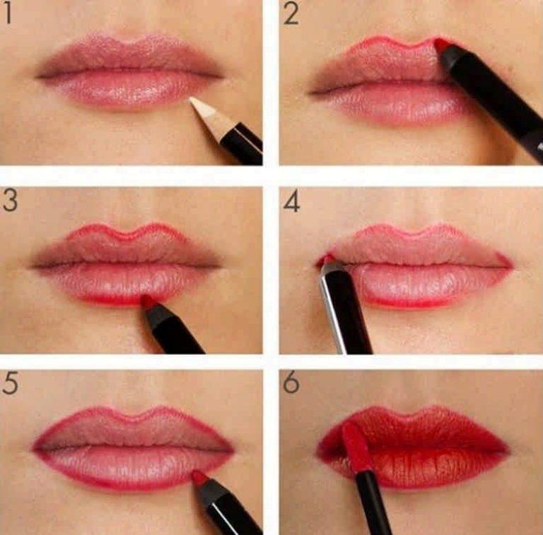 Как сделать губы пухлыми в домашних условиях макияж