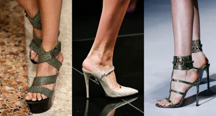 Туфли из рептилий