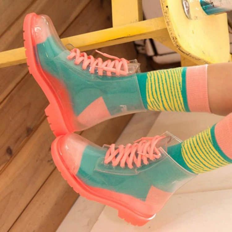 Прозрачные ботинки