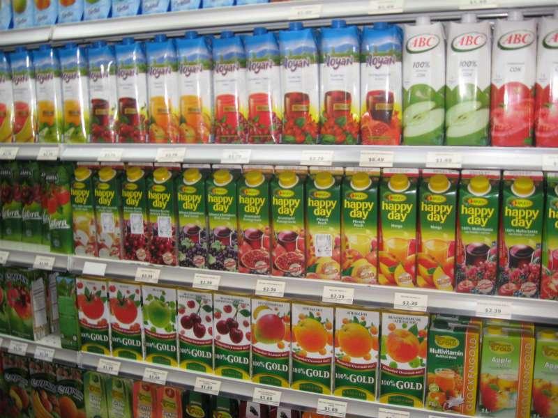 газированные напитки и пакетированные соки