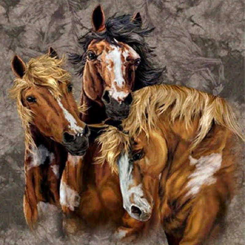 9 лошадей