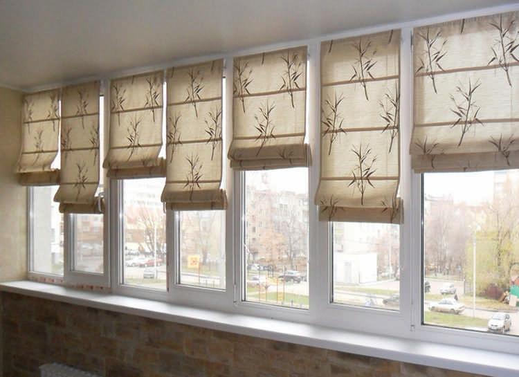 как сшит римские шторы