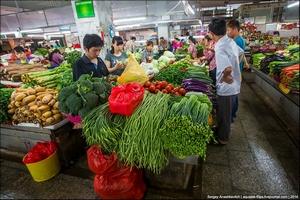 Китайский овощной рынок