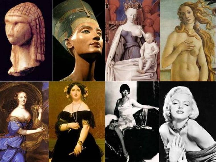Каноны женской красоты