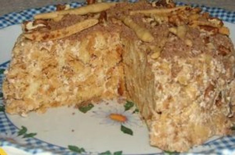 Торт из печенья без выпечки в домашних условиях