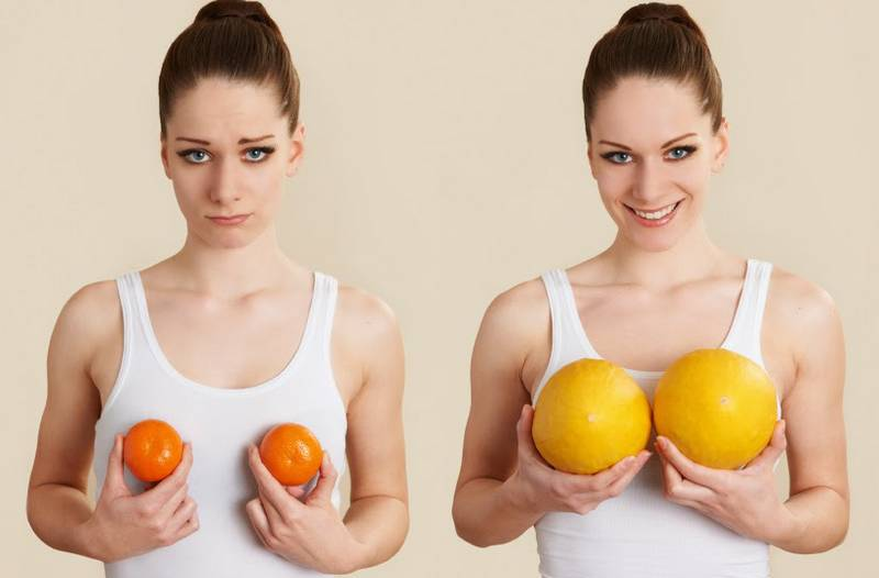 Как увеличить грудь в домашних условиях без операции