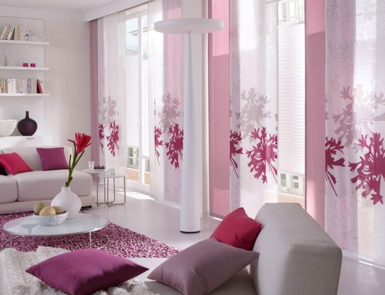 Японские шторы - интересное решение для интерьера