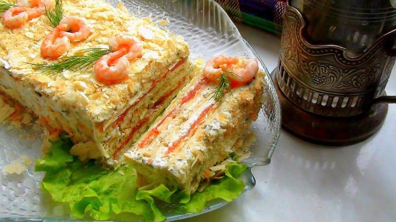 Как сделать вкусные закусочные торты