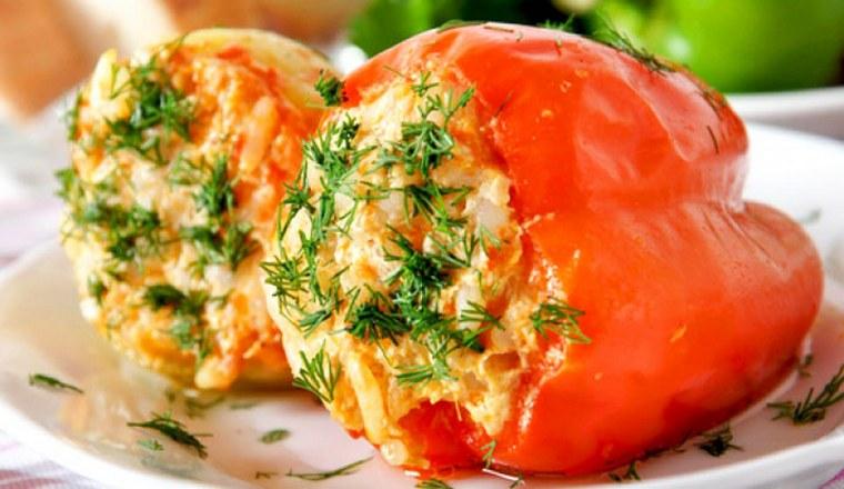 перец фаршированный рисом и овощами рецепт с фото пошагово