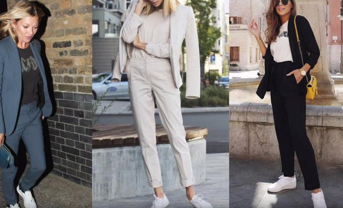 Как и с чем носить белые кроссовки и кеды: современные правила стиля