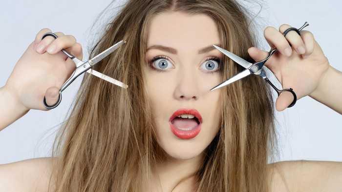 Как подстричь себе волосы ровно