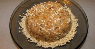 Кунжутно-арахисовая халва