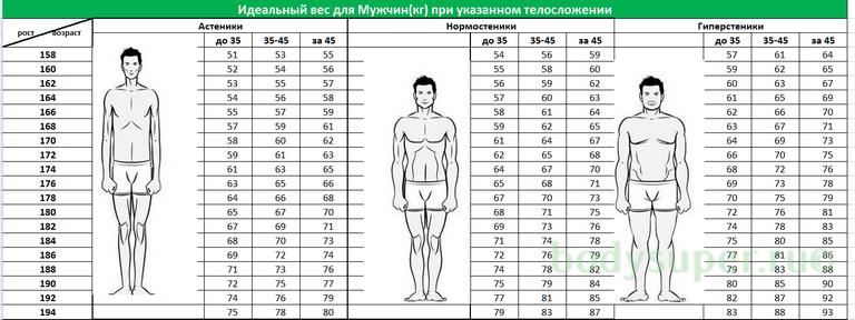 Идеальный вес и его показатели