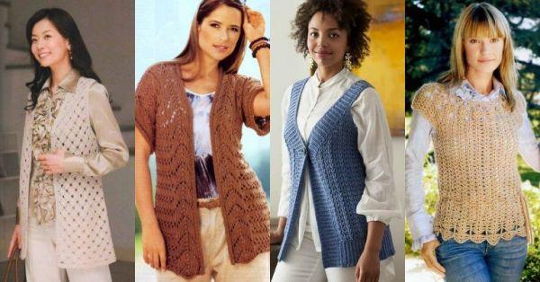 Красивые и модные модели жилетов для полных женщин