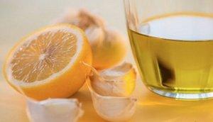 Лимон с чесноком
