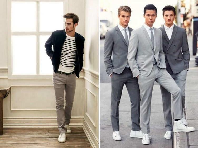 С чем носить белые кеды мужжчинам