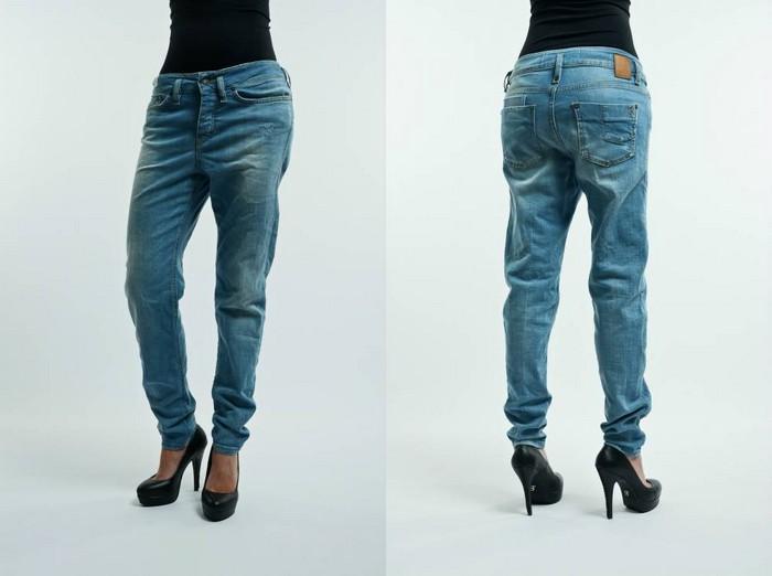 Где чаще всего растягиваются джинсы?