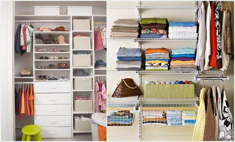 Организация вещей в шкафу