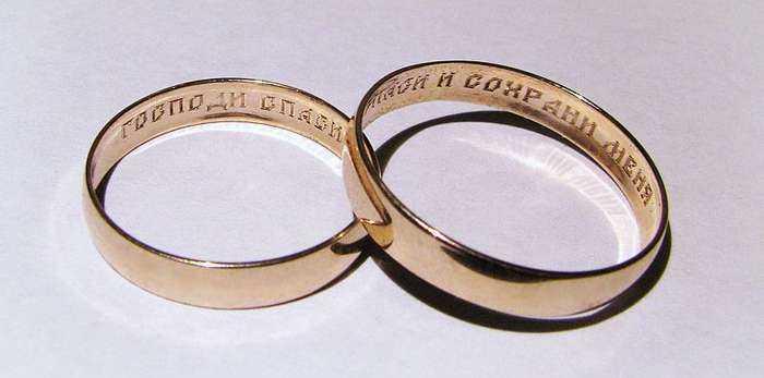 обручальное Как носить кольцо спаси и сохрани.