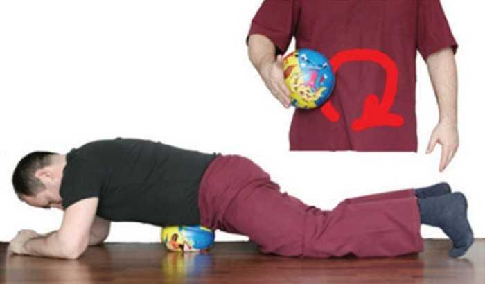 массаж мячом