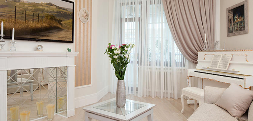 Лучшие идеи для интерьера: современные шторы для гостиной