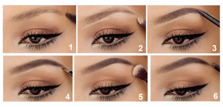 Как накрасить брови с помощью теней
