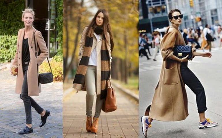 С чем носить осеннее пальто