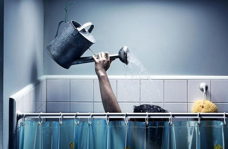 Первый в мире душ