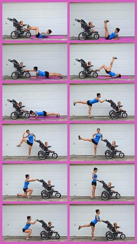 Упражнения с коляской